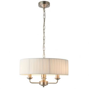 Endon Highclere 3 Light Ceiling Pendant Light - White