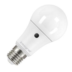 Integral 5.5W Warm White LED Opal GLS Bulb with Dusk to Dawn Sensor - Screw Cap