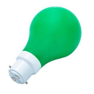 1W Green LED GLS Bulb - Bayonet Cap