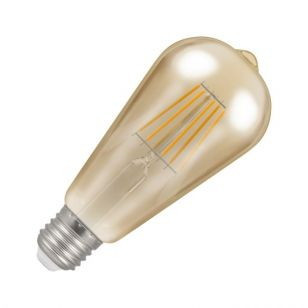 Crompton 7.5W Very Warm White Dimmable LED Decorative Filament Squirrel Cage Bulb - Screw Cap