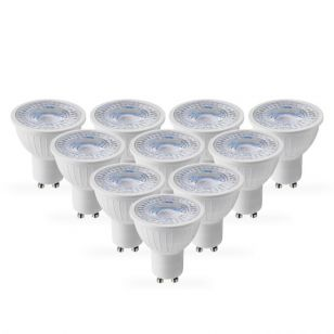 Lyco 5W Cool White LED GU10 Bulb - Pack of 10 - Flood Beam