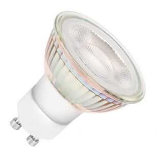 Bell Halo 6W Warm White Dimmable LED Glass GU10 Bulb - Flood Beam