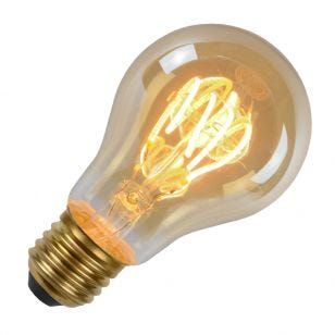 Lucide 4W Very Warm White LED Decorative Filament GLS Bulb with Dusk to Dawn Sensor - Screw Cap