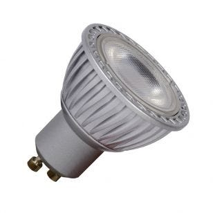 5W Warm White Dimmable LED GU10 Bulb - Grey - Flood Beam