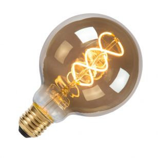 5W Very Warm White Dimmable LED Decorative Filament Smoke Grey 95mm Globe Bulb - Screw Cap