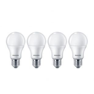 Philips 9W Warm White LED GLS Bulb - Screw Cap - Pack of 4