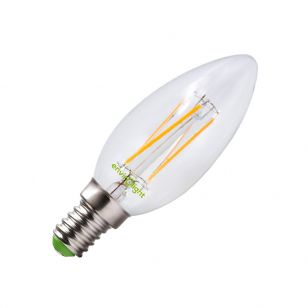 Envirolight 4W Warm White Dimmable LED Decorative Filament Candle Bulb - Small Screw Cap