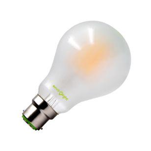 Envirolight 10W Warm White LED Frosted Decorative Filament GLS Bulb - Bayonet Cap