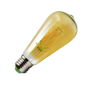 Envirolight 4W Very Warm White LED Amber Decorative Filament Squirrel Cage - Screw Cap