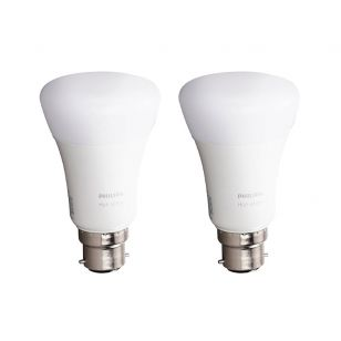 Philips Hue 9W Warm White LED Dimmable Bluetooth GLS Bulb - Bayonet Cap - Pack of 2