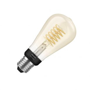 Philips Hue 7W Very Warm White LED Dimmable Bluetooth Decorative Filament Squirrel Cage Bulb - Screw Cap