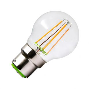 Envirolight 4W Warm White LED Dimmable Decorative Filament Golfball Bulb - Bayonet Cap