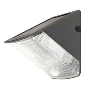 Solar LED Outdoor Wall Light with PIR Sensor - Grey
