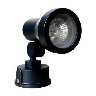 Robus Marlow Outdoor Wall Mounted Spotlight - Black