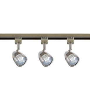 Robus Acorn 1 Circuit Track Light Kit - Satin Chrome - 3 Lights