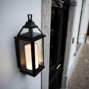 Lutec Hom LED Outdoor Wall Light - Black