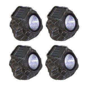 Rock Solar LED Spotlight - Grey - Set of 4