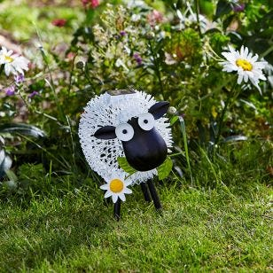 Metal Dolly Sheep Outdoor Colour Changing LED Solar Light