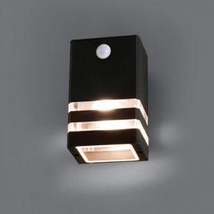 Edit Rio Outdoor Wall Light with PIR Sensor - Black