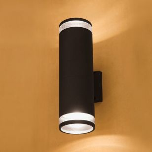 Edit Rock Outdoor Up & Down Wall Light - Black