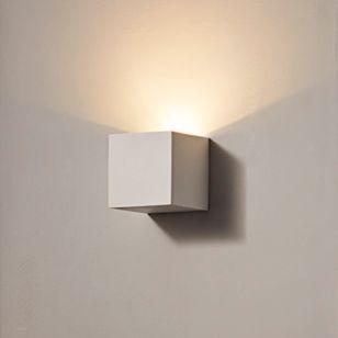 Edit Jazz 80 LED Plaster Wall Light - Satin White