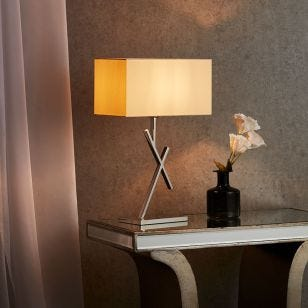 Edit Cross Table Lamp - Polished Stainless Steel
