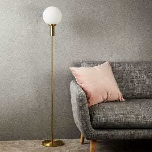Minna Floor Lamp - Brass