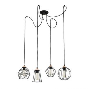 Edit Galaxy 4 Arm Ceiling Pendant Light - Black
