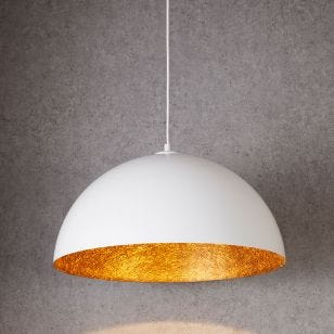 Edit Rondure Ceiling Pendant Light - 500mm White and Copper