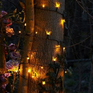 Easy Warm White LED Battery Operated String Lights - 120 Lights