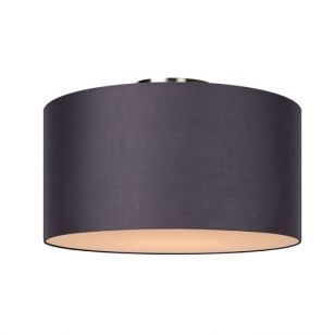 Lucide Coral Large Flush Ceiling Light - Grey