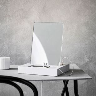 Reflect Table LED Mirror Light with USB Charging Ports
