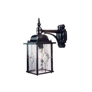 Elstead Wexford Outdoor Hanging Lantern Wall Light - Black/Silver