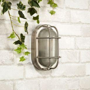 Searchlight Brunel Outdoor Oval Flush Light - Stainless Steel