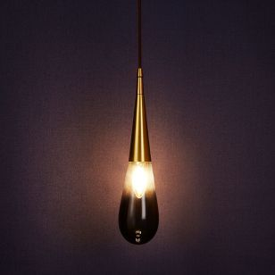 Edit Trinket Ceiling Pendant Light - Black Glass