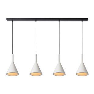 Lucide Gipsy Plaster 4 Light Bar Ceiling Pendant - White