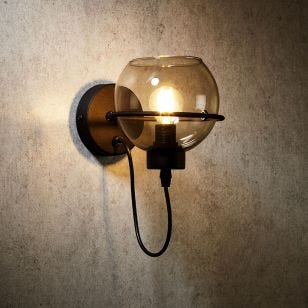 Edit Pobo Wall Light - Smoked Glass