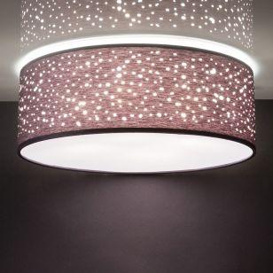 Edit Caren Flush Ceiling Light - Grey