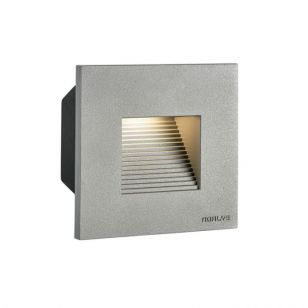 Norlys Mini Namos Square LED Outdoor Wall Light - Brushed Aluminium