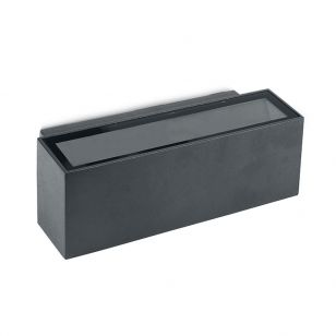 Block LED Outdoor Up & Down Wall Light - Anthracite