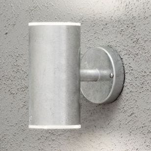 Konstsmide Ull LED Outdoor Up & Down Wall Light - Galvanised Steel
