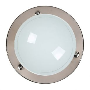 Lucide Basic Flush Ceiling Light - Gun Metal