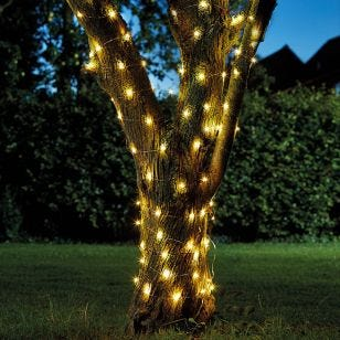 Firefly Warm White Solar LED Micro Wire Fairy Lights - 50 Lights