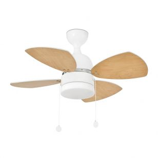 Faro Barcelona Mediterraneo Ceiling Fan with Light - White