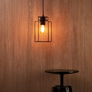 Edit Fiord Cube Ceiling Pendant Light - Black
