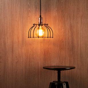 Edit Workshop Wide Ceiling Pendant  Light - Black and Copper