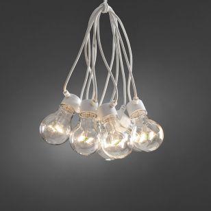 Konstsmide 14.5M LED Clear GLS White Festoon Lights - 10 Lights