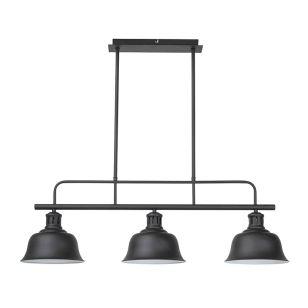 Edit Shoreditch 3 Light Bar Ceiling Pendant - Black
