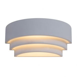 Edit Band Plaster Up & Down Wall Light - White