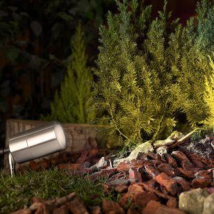 Luna Garden Spike Light - Stainless Steel